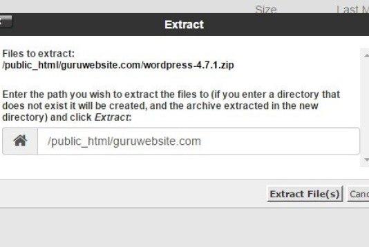 extract file WordPress tadi